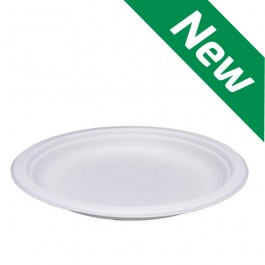 "7"" Bagasse Paper Plate - Compostable Biodegradable"