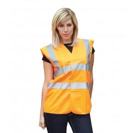 Orange EN471 Hi Visibilty Waistcoat - Available in Sizes Medium - XXXX-Large