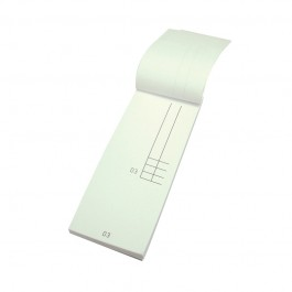 190A Two Part Single Sheet Waiters Pads - 100 per Case