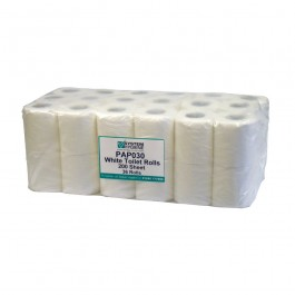 200 Sheet 2ply White Conventional Toilet Rolls - Case of 36