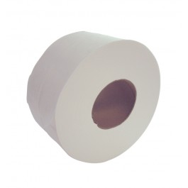 "200m 76mm (3"") Core 2ply Mini Jumbo Toilet Rolls - Case of 12"