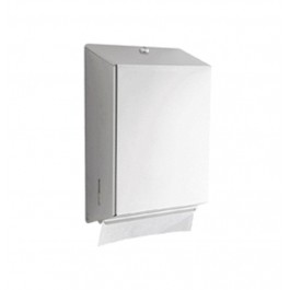 Large Polished Stainless Steel Multi-Use Paper Towel Dispenser