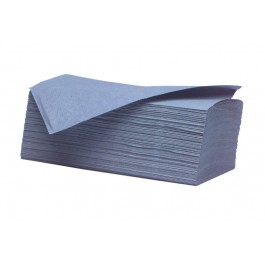 Heavyweight Blue 1ply Interleaved Paper Hand Towels - 4500 per Case