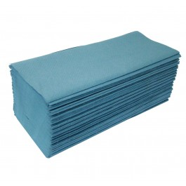 X-Large Blue Heavyweight Interleaved Paper Hand Towels