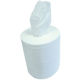 Embossed 150m 19cm 2ply White Centre Feed Rolls - Case of 6
