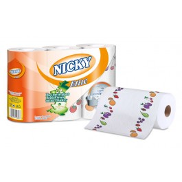 Nicky Elite Luxury 3ply Kitchen Rolls - 15 Rolls Per Case