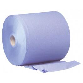 400m 26cm Blue 2ply 1000 Sheet Wiper Roll - 2 per Case