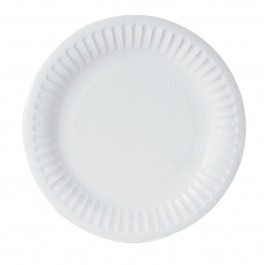 "18cm (7"") 1 Star Disposable Uncoated Paper Plates - 1000 per Case"