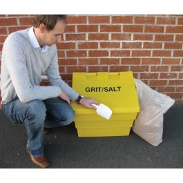 50ltr Mini Grit Bin With Scoop And 20kg Sack of Rock Salt
