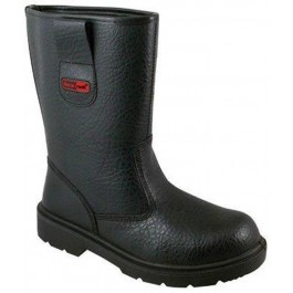 Blackrock Black Fur Lined Rigger Boot - Available in Sizes 5-13