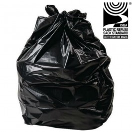 "Standard Black Refuse Sacks 457x735x990mm (18x29x39"") - 200 per Case"