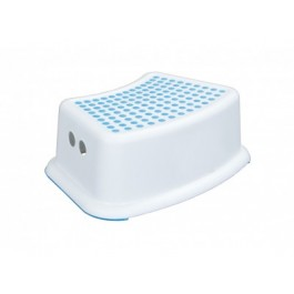 White Plastic Anti-Slip Step Stool
