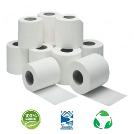 280 Sheet 2ply White Conventional Toilet Rolls - Case of 36
