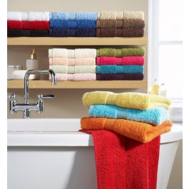 Classic Terry Cotton Face Towels - Pack of 6