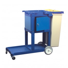 Heavy Duty Plastic Wastebin for Mobile Janitorial Trolley
