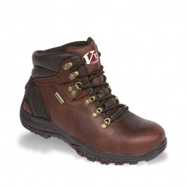 V12 Storm Brown Pull-Up Hiker Safety Boot - Available In Sizes 6-12