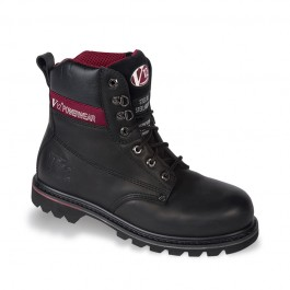 V12 XL Boulder Black Hide Derby Safety Boot - Available In Sizes 14-16