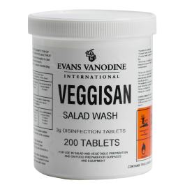 Evans Veggisan Salad Wash Disinfection Tablets