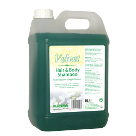 Clover Velvet Hair Shampoo and Bodywash 5ltr