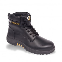 V12 VR6 Bison Black Waxy Derby Safety Boot - Available In Sizes 3-13