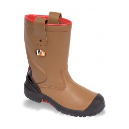 V12 VR6 Grizzly Tan Fleece Lined Safety Rigger Boot - Available in Sizes 5-13