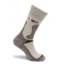 V12 Fawn Marl Wool Calf Length Sock - Pair - Available In Sizes Medium - X-Large