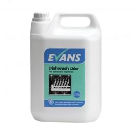 Evans Vanodine Dish Wash Detergent Chlor 5ltr