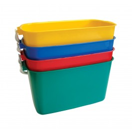 9ltr Rectangular Colour Coded Buckets