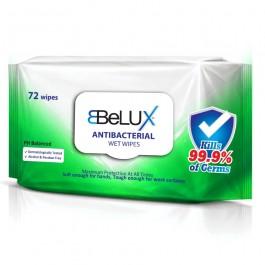 Belux Antibacterial Wet Wipes (Single Pack of 72 Wipes)