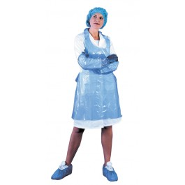 Blue Disposable Polythene Aprons - Pack of 100