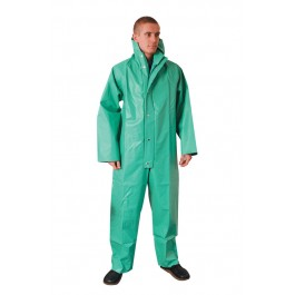 Green Chemical Resistant PVC Boilersuit
