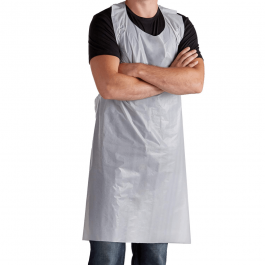 White Disposable Polythene Aprons - Pack of 100