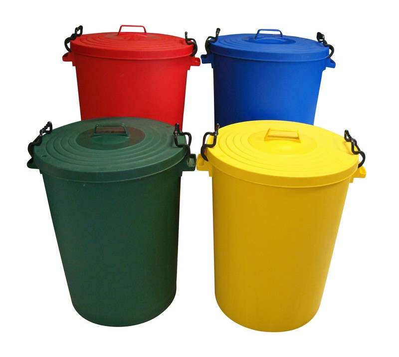 Dustbin 110Ltr Colour Coded Plastic Dustbin with Lid