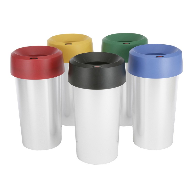 Vileda Professional Iris 50ltr Round Waste Bin - Available In A Choice Of Colours