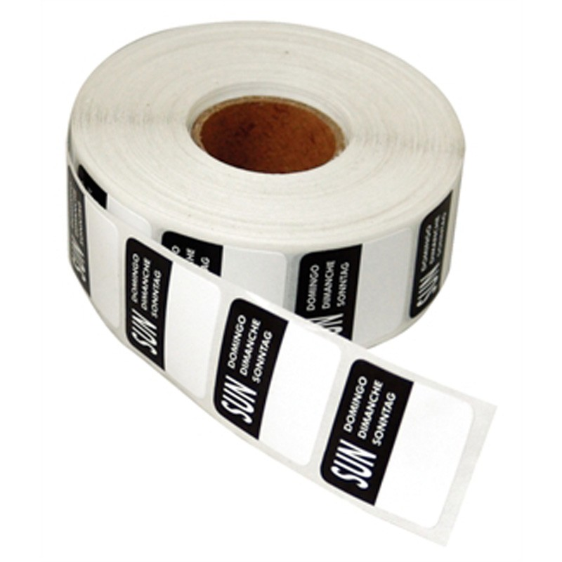 Day Stickers - Sunday - Roll of 1000 Labels