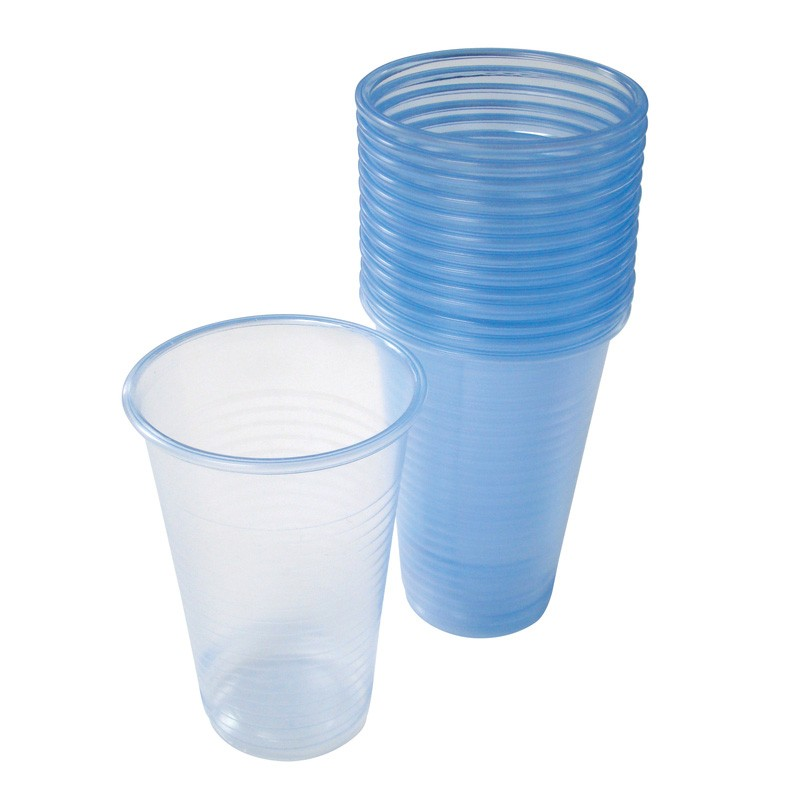 7oz/ 227ml Tall Blue Tint Disposable Water Cups - Case of 1000