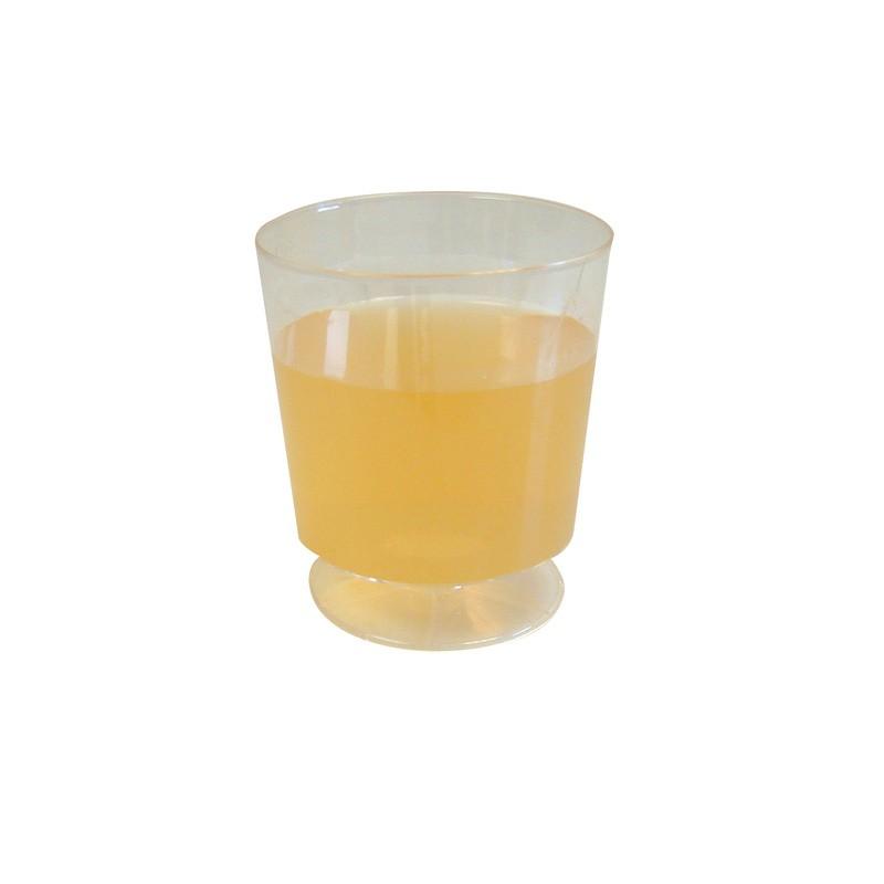 8oz Clear Plastic Wine Glasses - 72 per Case