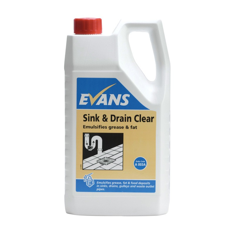 The Natural Drain Cleaner For Your Clogged Drain: Evans Vanodine Sink & Drain Clear 2.5ltr