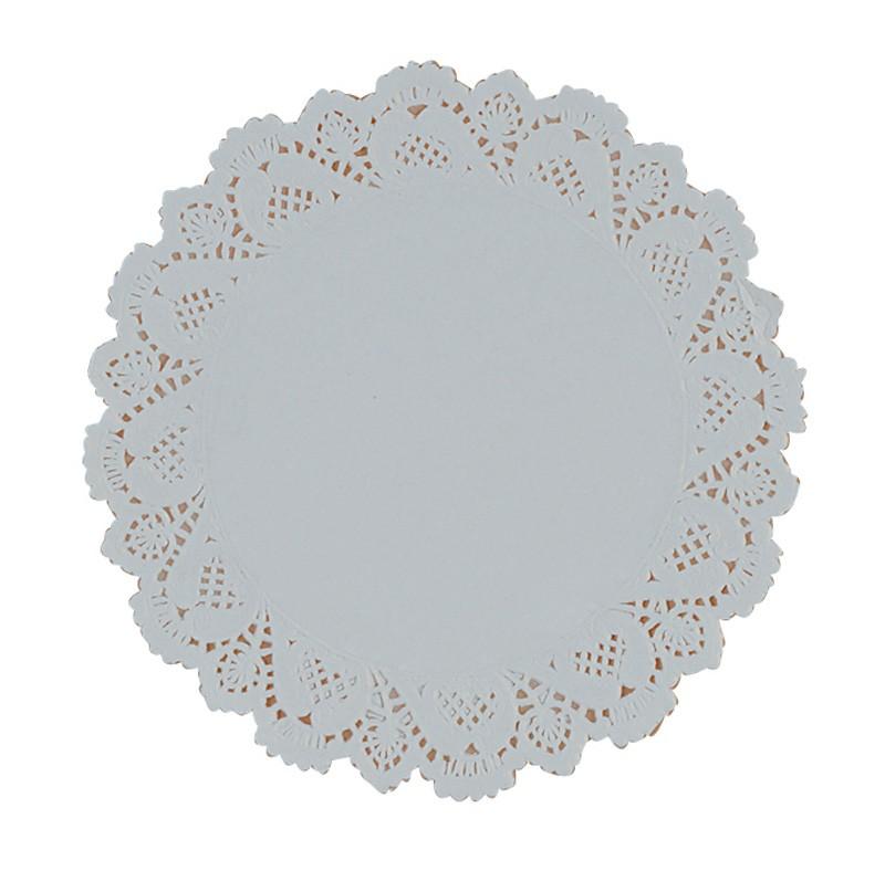 """22cm (8.5"""") Round Lace Paper Doilies - 2000 per Case"""