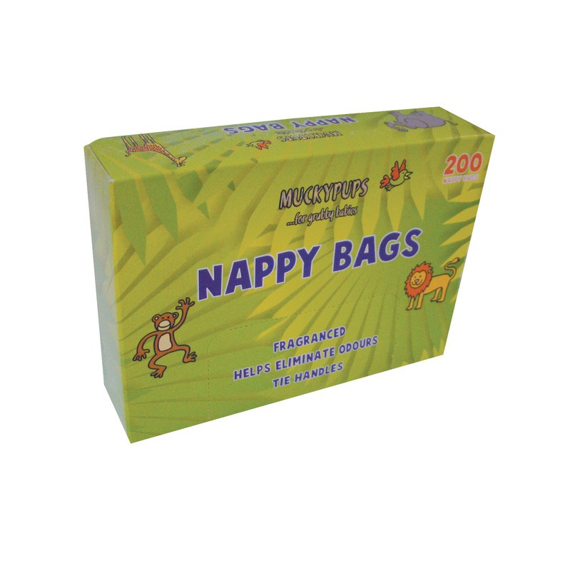 Nappy Bags 200 Bags - 5 Packs per Case