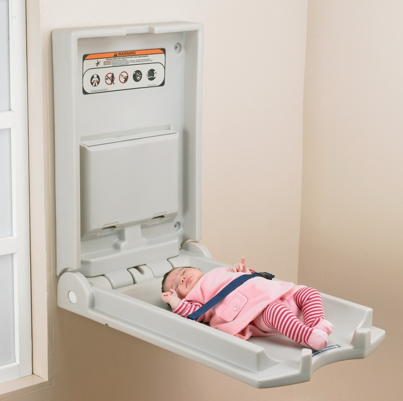 Vertical Wall Mounted Baby Changing Unit