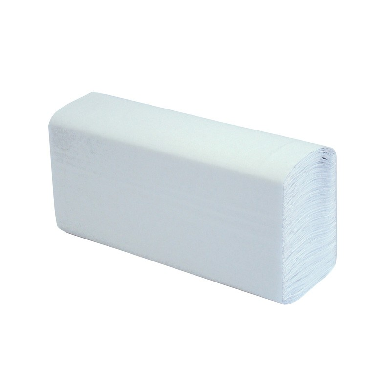 White 1ply Z Fold Paper Hand Towels - 3000 per Case