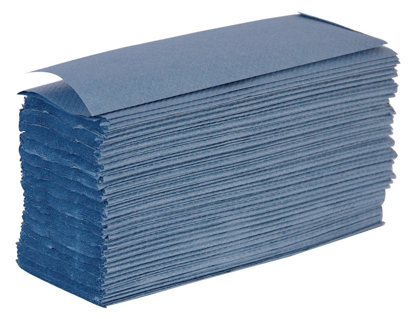 Blue 1 Ply Z Fold Paper Hand Towels - 3000 per Case