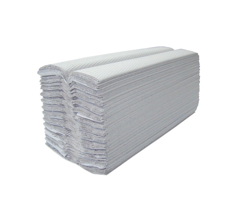 White 1ply C Fold Paper Hand Towels - 3744 per Case