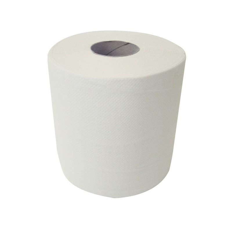 125m 18.5cm 2ply Economy White Centre Pull Rolls - 6 per Case