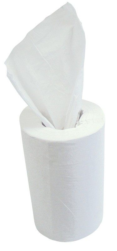 60m 19cm 2ply White Mini Centre Pull Rolls - 12 per Case