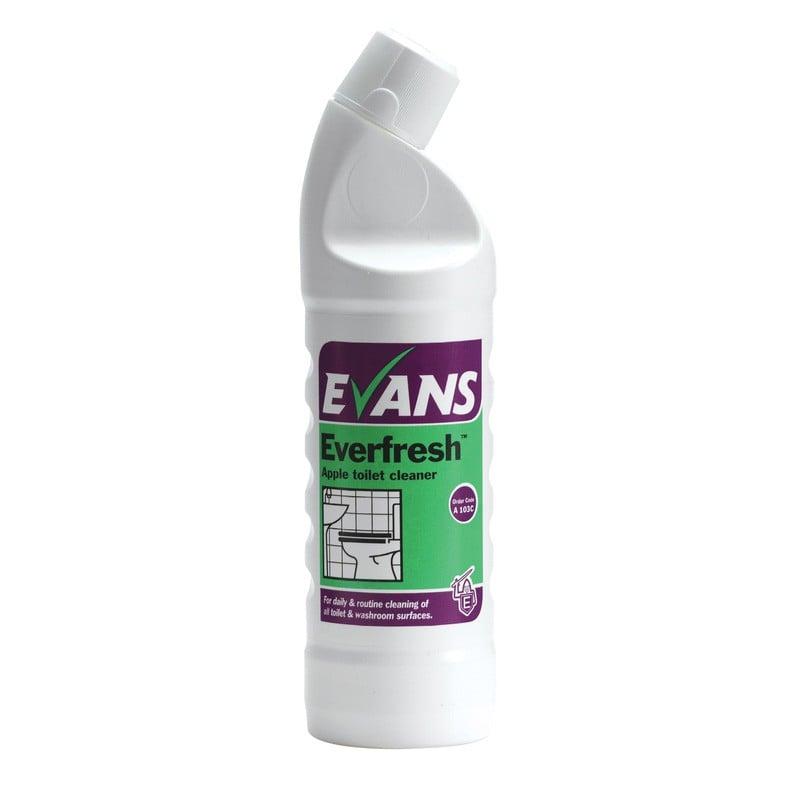 Evans Vanodine Everfresh Apple Toilet & Washroom Cleaner 1Ltr