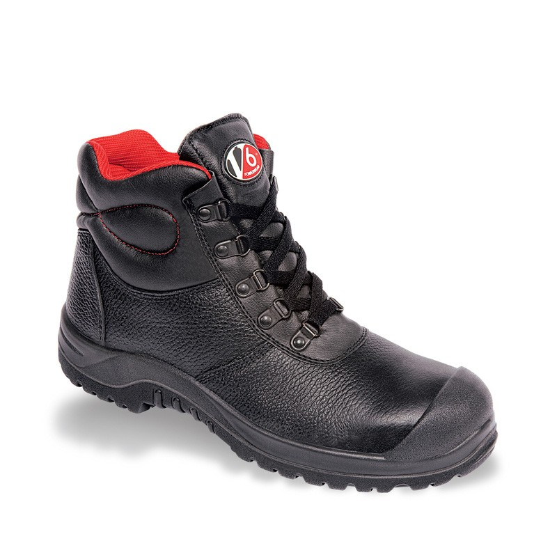 V12 V6 Rhino Black 5 D-Ring Scuff Cap Safety Boot - Available In Sizes 3-13