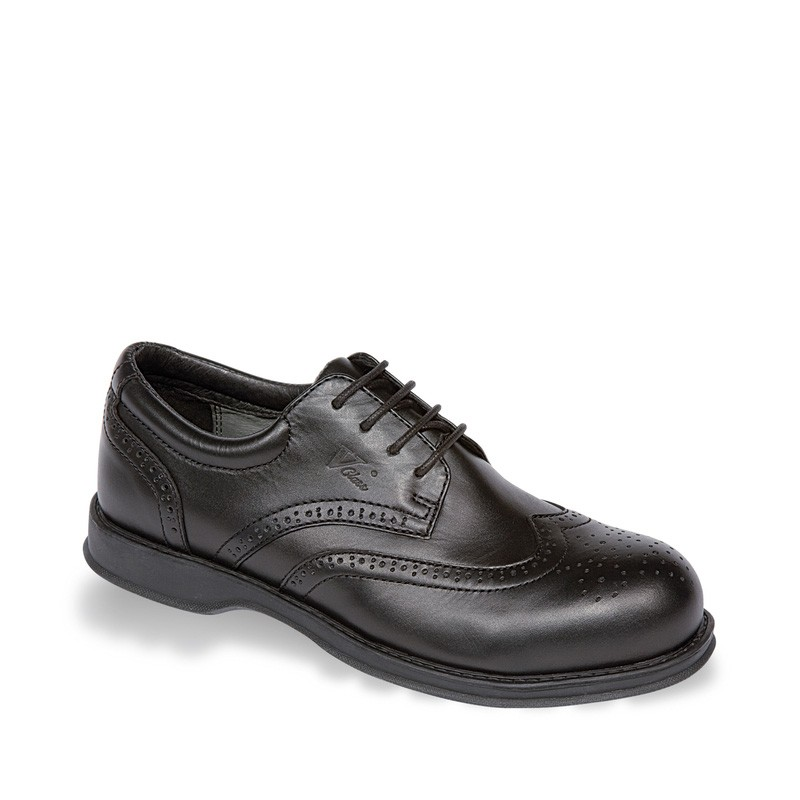 V12 Diplomat Black Executive Brogue Safety Shoe - Available In Sizes 6-12