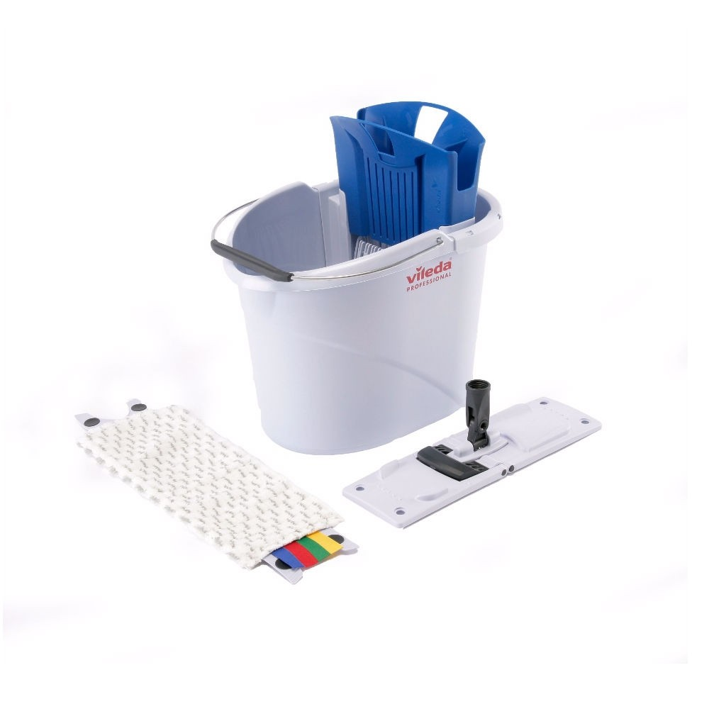 Vileda Professional UltraSpeed Mini Starter Mopping Kit - Colour Coded (Without Handle)